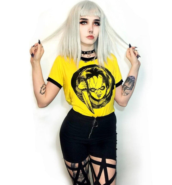 Kill It Pop Culture Goth Gal Crop Top