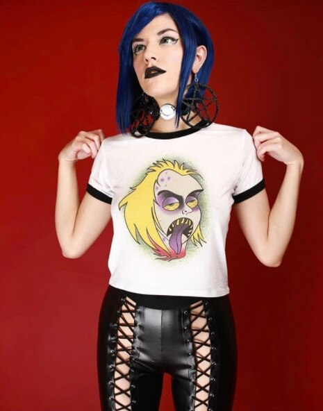 My Goddess Pop Culture Goth Gal Crop Top