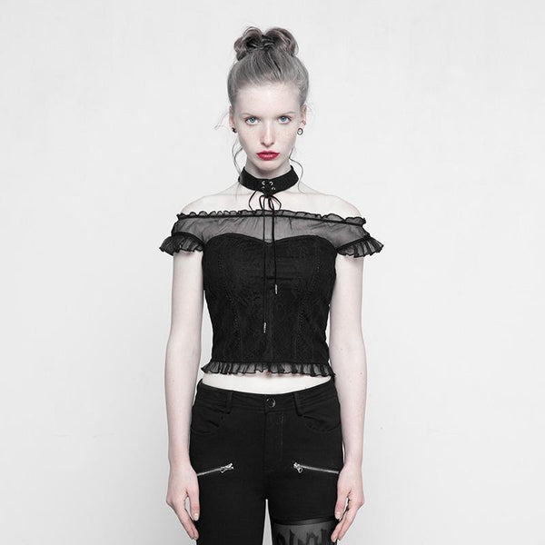 Women's Frilled Punk Tank Top - Black Rabbit Store