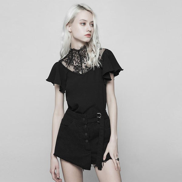 Women's Lacy Punk Top - Black Rabbit Store