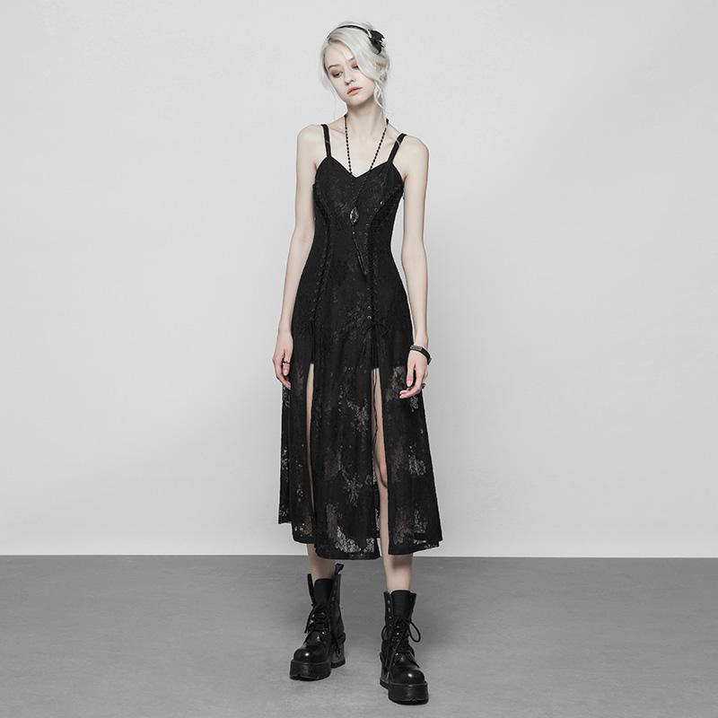 Women's Punk Printed Dress - Black Rabbit Store