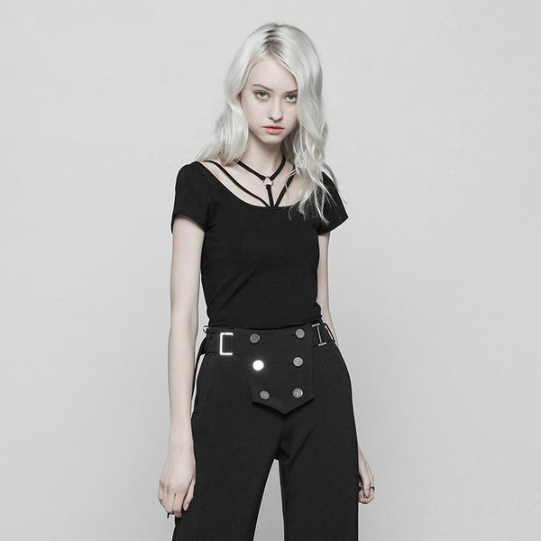 Women's Strappy Punk Top - Black Rabbit Store
