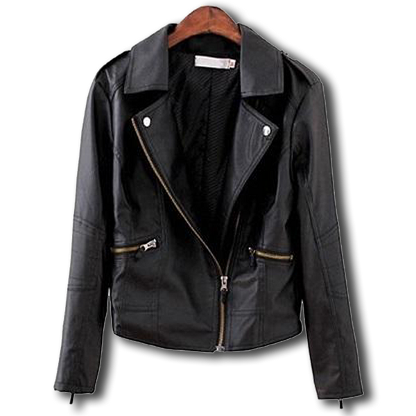 Punk Biker Leather Jacket - BLACK RABBIT STORE