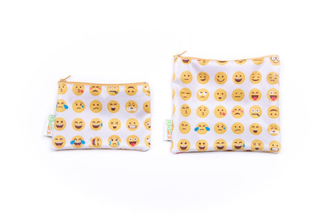 Emoji Reusable Snack Bag Set