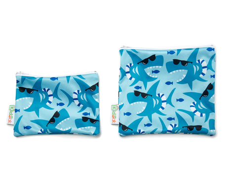 Shark Reusable Snack Bag Set