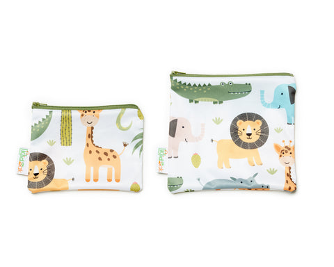 Wild Animals Snack Bag Set