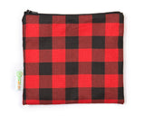 plaid reusable snack bag kidsak