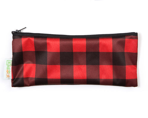 Hunter Check Reusable Snack Bag - Wide