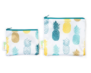 Pineapple Reusable Snack Bag Set
