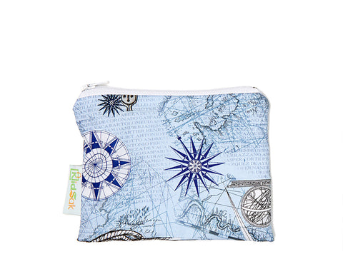 Blue Geographic Reusable Snack Bag