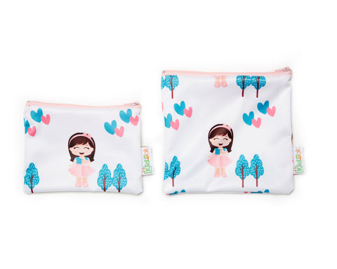 Shy Girl Reusable Snack Bag Set