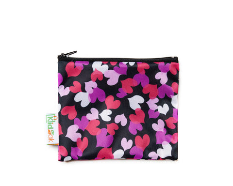 Pink Hearts Reusable Snack Bag