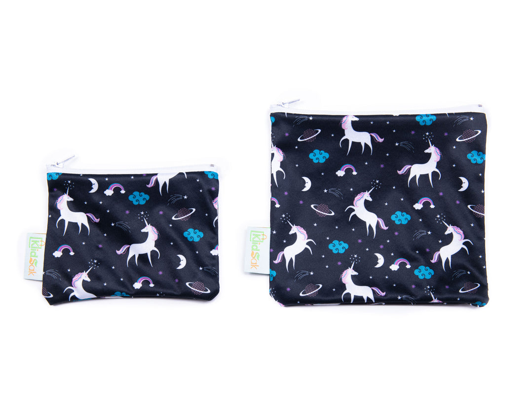 Unicorn Reusable Snack Bag Set