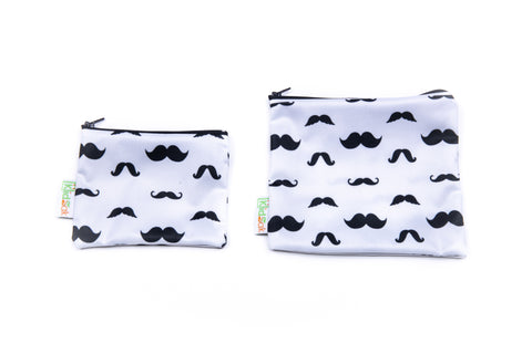 Mustache Reusable Snack Bag Set