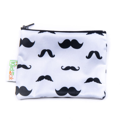 Mustache Reusable Snack Bag