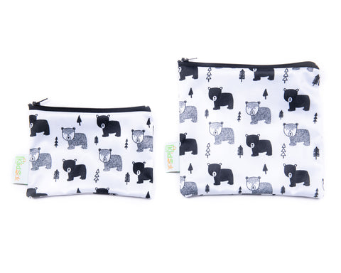 Bears Reusable Snack Bag Set