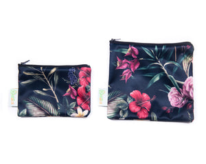 Flowers Reusable Snack Bag Set