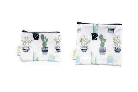Cactus Reusable Snack Bag Set