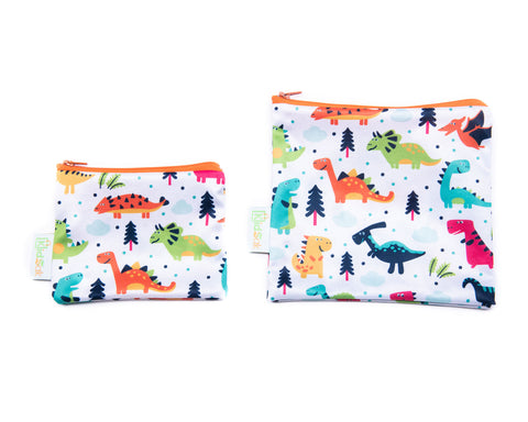 Dinosaurs Reusable Snack Bag Set