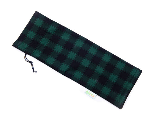 Green Plaid Wine Bag