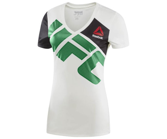 Reebok Womens Conor McGregor Chalk/Green UFC Jersey