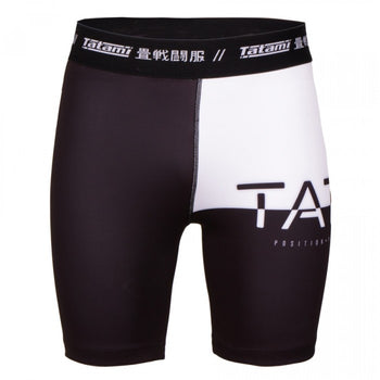 TATAMI 50/50 VALE TUDO SHORTS - BLACK AND WHITE