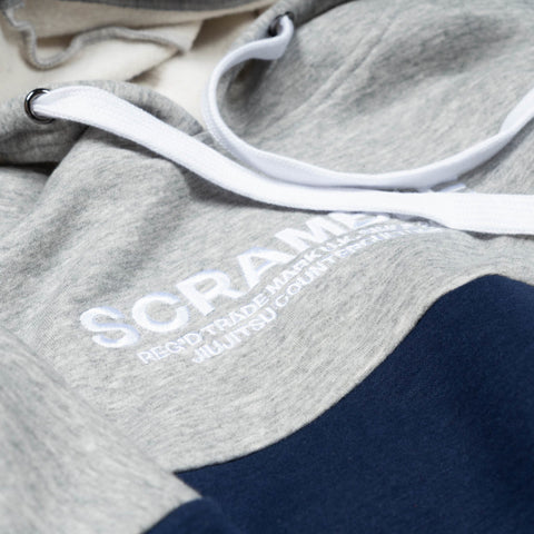 SCRAMBLE TAKAMIYA HOODY –  NAVY/GREY