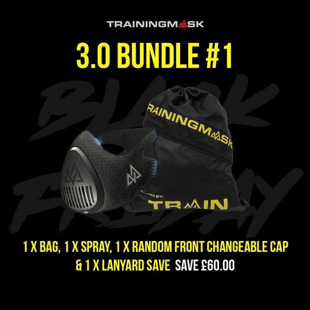 Black Friday Training Mask 3.0 And Changeable Front Cap Bundle