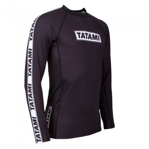 TATAMI - DWELLER LONG SLEEVE RASH GUARD - BLACK