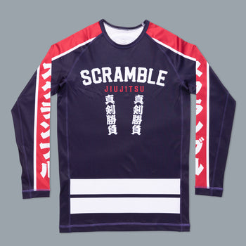 Scramble Hikeshi Rashguard Blue/Red