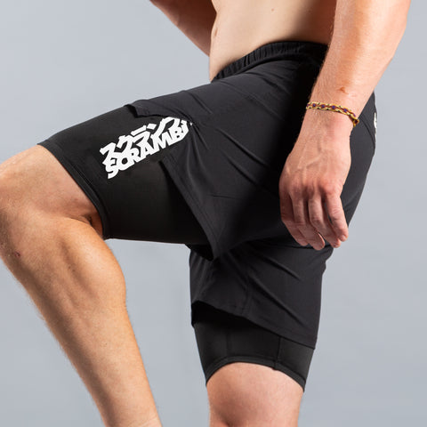 Scramble Combination Shorts Black