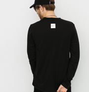 RVCA ALL OUT - LONG SLEEVE TEE - BLACK
