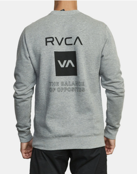 RVCA SPORT GRAPHIC CREW NECK SWEATER  - HEATHER GREY