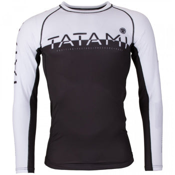 TATAMI 50/50 RASHGUARD LONG SLEEVE - BLACK AND WHITE