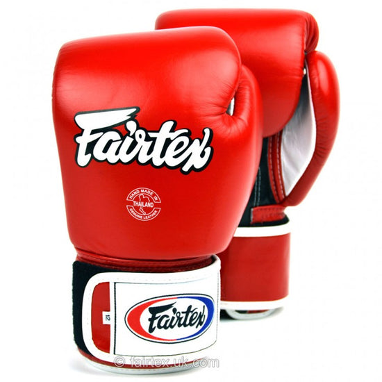 Fairtex BGV1 3-Tone Red Boxing Gloves