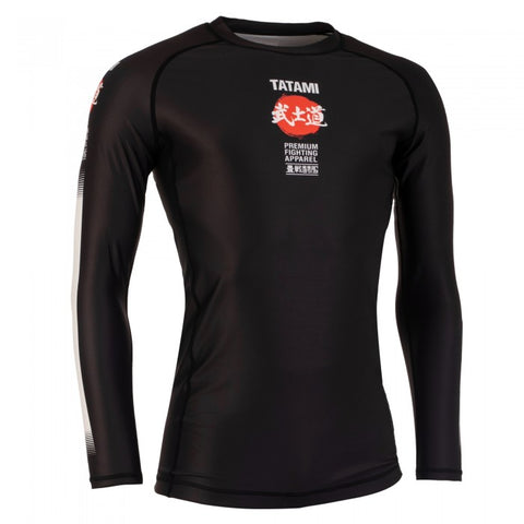 TATAMI BUSHIDO BLACK LONG SLEEVE RASH GUARD