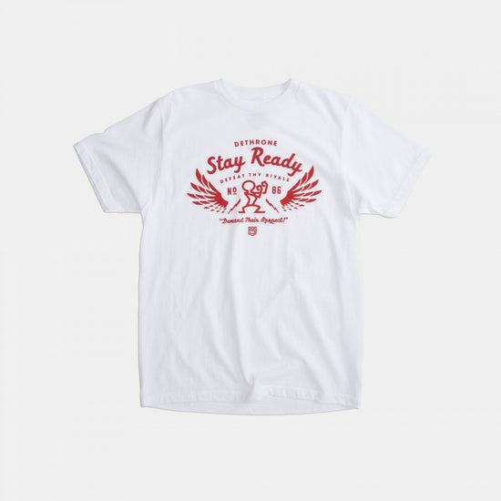 Dethrone Ready Wings Tee White Heather