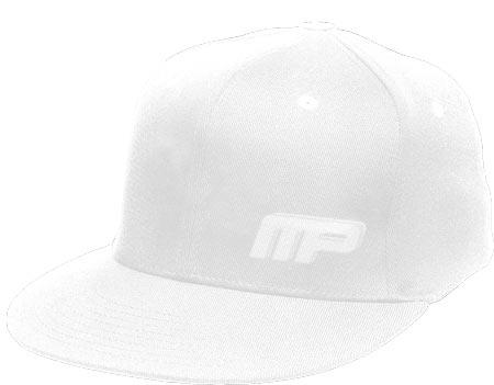 MusclePharm Flatbrim Hardcore Hat White