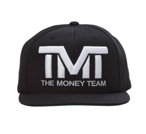 TMT Court Side Snapback Black White