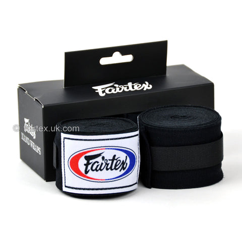 Fairtex HW2 Black 4.5m Stretch Wraps