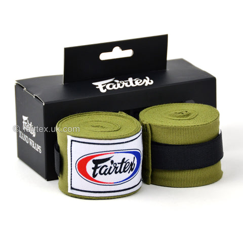 Fairtex HW2 Olive 4.5m Stretch Wraps