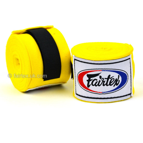 Fairtex HW2 Yellow 4.5m Stretch Wraps