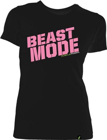 MusclePharm Womens Beast Mode Tee Black