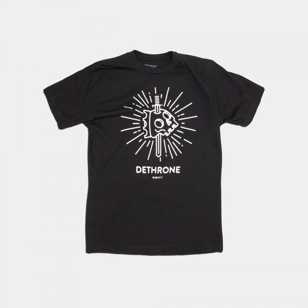 Dethrone Knife Skull Tee Black