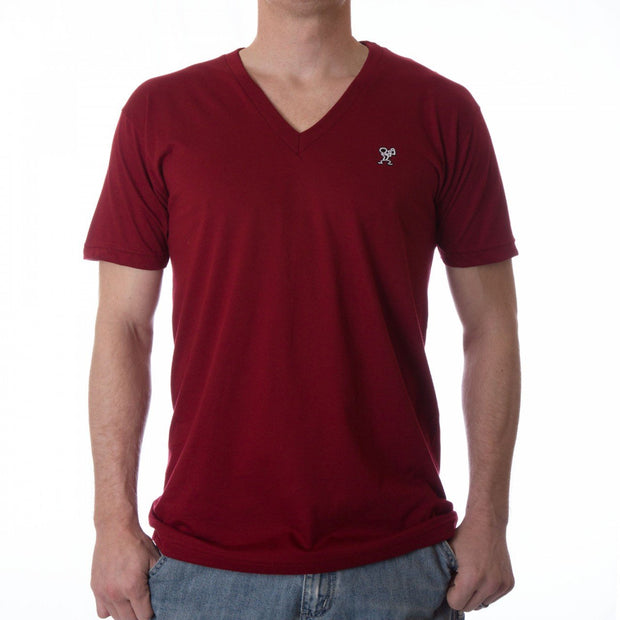 Dethrone Ready V Neck Cranberry
