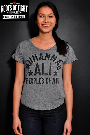 Roots of Fight Ali Rumble Anniversary Womens Tshirt