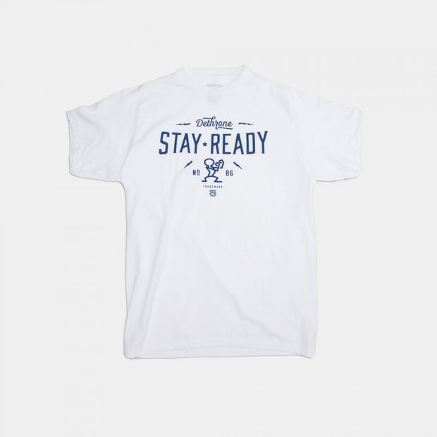 Dethrone Ready Bolt Tee White Heather