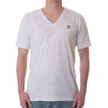 Dethrone Ready V Neck Ash White