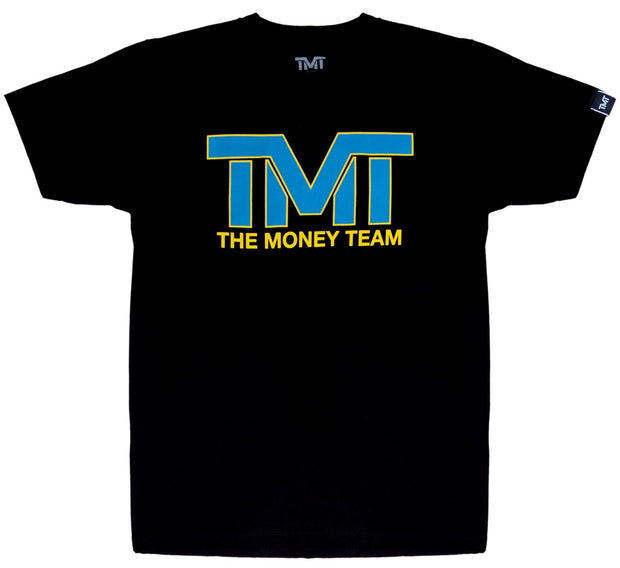 TMT AND STILL TEE- BLACK/BLUE