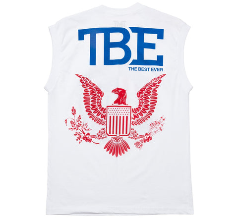 TMT GLORY SLEEVELESS TEE - WHITE